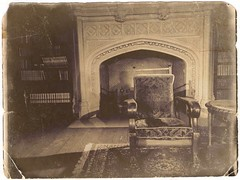 madness of edgar allan poe. 2018 (timp37) Tags: black white library illinois october 2018 oak brook chair fireplace photolab mayslake estate peabody madness edgar allan poe love story