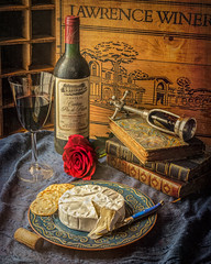 Old wine, good memories (Flight of life) Tags: wine still life rose french