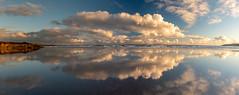 Inchydoney Beach at Sunset (Peter Quinn1) Tags: inchydoneybeach inchydoneyisland clonakilty reflections clouds cloudscape westcork ireland beach sunset evening october atlanticocean ocean