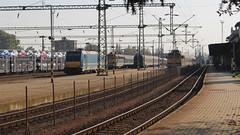 Nagykanizsa Vasútállomás (Péter Vida) Tags: máv traxx v43 railroad sky train railway station electric locomotive