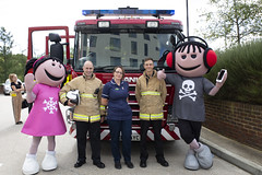 Byrnes visit to Tunbridge Wells Hospital (Kent Fire and Rescue Service) Tags: tunbridge wells woody elsa byrnes hospital partnership jonny bell iain bradshaw ada community safety public