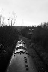Tondu 80775bw (kgvuk) Tags: tondu station railwaystation railway tondustation ogmorevaleextensionline train locomotive diesellocomotive class66 66230 dbcargo railtour valleyofthewitch