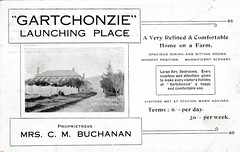 "Advertisement for ""Gartchonzie"" at Launching Place, Victoria - 1913 (Aussie~mobs) Tags: cmbuchanan janebuchanan launchingplace victoria vintage australia guesthouse advertisement 1913 accommodation tariff visit holiday residence home house aussiemobs"