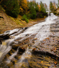 Autumn At Laughing Whitefish Falls (owenweberlive) Tags: michigan sunrise sunset landscape water lake dune sand sky grass summer fall autumn spring pure national park river at laughing whitefish falls porcupine mountains upper peninsula mi