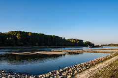 20181015-K32E7581 (AldAsAck1957) Tags: rhine karlsruhe germany low water sunset fall colour