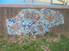 360 (en-ri) Tags: mosaico blu azzurro grigio arancione farfalle butterflies sony sonysti torino