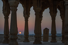 Sunset at Vyas Chhatri (shapeshift) Tags: 50mm d5600 in architecture asia brahman cemetary chhatri columns crematorium davidpham davidphamsf documentary india jaisalmer nikon rajasthan shapeshift southasia sunset sunsetpoint travel vyaschhatri death