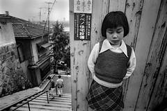 A city 649 (soyokazeojisan) Tags: japan osaka bw city people blackandwhite monochrome anaiog olympus m1 om1 21mm film trix kodak 1970s memories