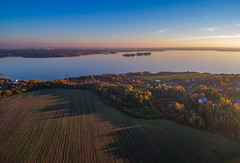 Aerial Sunset (free3yourmind) Tags: aerial sunset xiaomi mi drone 4k quadcopter sea lake land view above trees nature minsk belarus city fields village