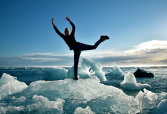 Froozen (donna.quijote...) Tags: iceland jakulsarlon donna woman acrobathic sport climbing parcouring blackandwhite nice beautiful notallowed people human fun island ice country travel vacation cold water atlantic ocean vulkano dream wonderful troll elfs nature landscape