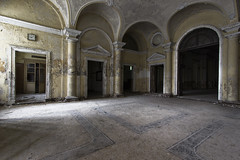 Ten Past Nine (Giorgio Marra) Tags: abandoned asylum empty echoes europe time urbex dust ruin italy indoor old forgotten lost contrast fotografia past psychiatrichospital photography photo people light flickr decay dark decadence darkness shadow silence canon memories madness manicomio