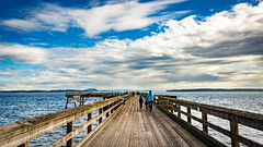 Sidney Fishing Pier (kevin.boyd) Tags: sidney british columbia canada victoria bc pier ocean juan de fuca strait vancouver island cloud wood dock marine pacific salish sea fishing