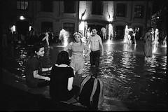 (Igor Baranchuk) Tags: night moscow москва bw analog film 35mm rangefinder fountain water football championship street ilford ilfordpan400