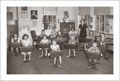 Fashion 0072-21 - Dolgeville 1951 (Steve Given) Tags: socialhistory familyhistory fashion kids children class school classroom teacher students 1950s
