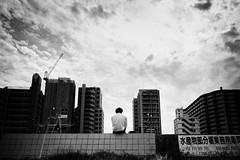 The thinker (y uzen (犬も歩けば…)) Tags: bw monochrome japaninbw cloud think sky summilux