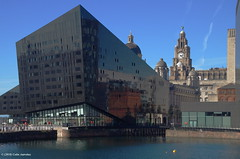 30K00941a_C (Kernowfile) Tags: liverpool merseyside waterfront buildings water dock canningdock reflections people