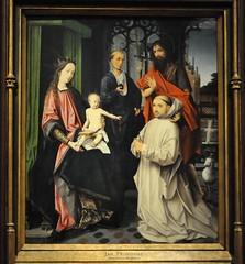 Amsterdam (Holanda). Rijksmuseum. Virgen con el Niño, entronizada y con S. Jerónimo, S. Juan Bautista y monje cartujo, hacia 1510. Jan Provoost (santi abella) Tags: rijksmuseum amsterdam holanda