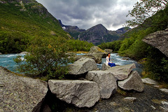 Norway (Daniel Nebreda Lucea) Tags: nature naturaleza landscape paisaje woman mujer rocks rocas river rio forest bosque travel viajar wild salvaje trees arboles tree arbol people gente norway noruega europe europa composition composicion texture textura natural earth tierra water agua sky cielo clouds nubes life vida color colores canon 60d 1018mm rock roca picture foto green verde adventure aventura atmosphere atmosfera kalm calmado
