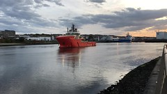 Grampian Fortress  - Aberdeen Harbour - Scotland 5/10/18 (DanoAberdeen) Tags: iphonevideo mpeg video grampianfortress danoaberdeen aberdeen amateur aberdeenscotland abdn abz aberdeencity aberdeenharbour scotland spring scottish seafarers seaport schotland dock vessels candid clouds cargoships szkocja bluesky boats northsea northeast northseasupplyships metal merchantships merchantnavy maritime lifeatsea harbour transport tug torry tugboats riverdee river footdee fittie grampian granitecity psv pocraquay port shipspotting summer shipspottersuk autumn northeastsupplyvessels northseasupplyvessels offshore offshorevessels offshoresupplyships oilships oilrigs oilandgas oilindustry supplyships marine