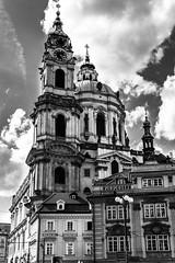 Height (ramvogel) Tags: sony a6300 sigma30mmf14 sigma clouds prag praha prague bw blackwhite architecture