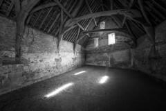 The Barn (jase411) Tags: barn lacock nationaltrust monochrome building dark light windows