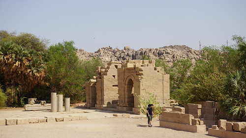 The Temple of Harendotes and the Temple of Augustus, the Temple of Isis, Philae, Agilkia Island, Laker Nasser, Aswan, Egypt.