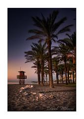 On the beach (Deek Wilson) Tags: torremolinos beachhut watchtower lifeguard beach sand sea costadelsol palmtree sunrise themed andalusia mediterraneansea