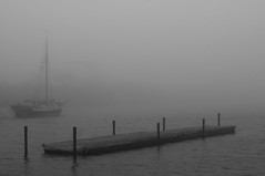 Ghost Ship (ArtWork) (Rind Photo) Tags: fog mist haze ship sea harbour water seascape old sailingship atmosphere beautiful lightroomedit bw