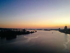 borders (Yutaka Seki) Tags: twilight fraserriver boat barge city newwestminster surreybc metrovancouver bridge