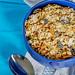 Healthy food-healthy Breakfast porridge on a blue background