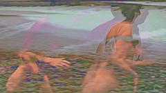 Bildschichten am Strand 02 (wos---art) Tags: bildschichten ostsee strand akt baden schwimmen frauenakt sommer frühling herbst winter nude nackt badende ohne unbekleidet