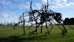 #37 The last charge 2017 lead horse (spelio) Tags: actsep2018shawyassvalleynsw canberra australia sep 2018 rural art sculpture murrumbateman