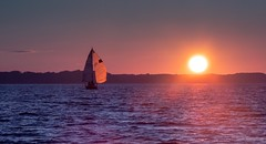 (Bill Topping) Tags: greatlakes hamlin lake brockportyachtclub sailing sunset sailboat racecommittee lakeontario byc newyorkstate