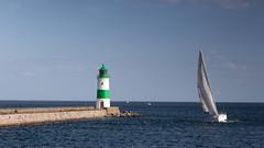 Segeln am Leuchtturm.jpg (Knipser31405) Tags: 2018 schleimünde schlei lotseninsel angeln ostsee sommer schleswigholstein deutschland de