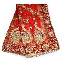 Maatangi Devi Chunri | From Vedic Vaani™ (vedicvaani.com) Tags: maatangi devi chunri god goddess deity hindu bridal religious marriage chunris puja items pooja shringar idols netted cloth vedic vaani voice of vedas flows towards lord om shop online