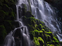 Mossy Columns (Tyson Poeckh) Tags: waterfall mthood oregon basalt moss water long exposure fuji gfx50s cascades creek landscape pacific northwest ramona fujifilm
