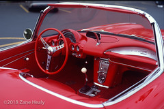 1962 Chevy Corvette (Zane's Photography) Tags: 81b classiccars cruisein film fujifilmvelvia100f nikkor50mmf18d nikonf5 slide tiffen warmingfilter