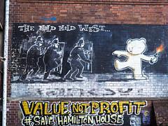 The mild mild west (Franco & Lia) Tags: bristol strokescroft streetart graffiti banksy
