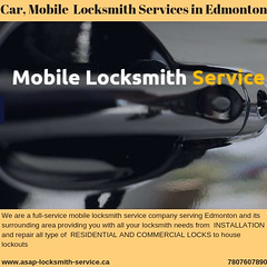 Professionals Services in Edmonton (yadvvipul1) Tags: asap locksmith mobile service company edmonton car services residential locksmiths commercial security professionals