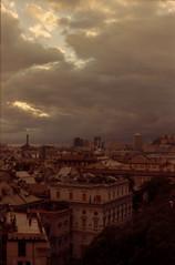 Stormy sky above Genova 2 (lumpy79) Tags: stormy sky genova yashica tl electro x auto yashinondx 117 f50mm expired kodak gold 200yashica 200 italy