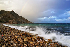 Playa del Barranc d'Aigües (lagunadani) Tags: playa elcampello alicante mar mediterraneo arcoiris paisaje sony a7 nubes