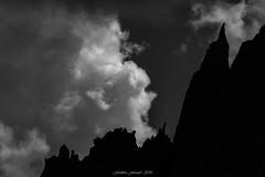 Black Ridge (Frédéric Fossard) Tags: silhouette sky nuages clouds landscape montagne mountain cimes crêtes arêtes alpes massifdumontblanc noiretblanc blackandwhite hautesavoie lumière light ombre shadow contraste mountainridge mountainpeak aiguillerocheuse dark contrejour