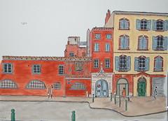 8, place du parlement Toulouse. (J-M.I) Tags: dessin illustration graphisme artiste exposition aquarelle paysage art croquis toulouse 31 haute garonne