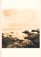 Printed version (Fomatone MG) (Claudio Taras) Tags: darkroom hasselblad501cm film fomapan filmisnotdead print barytpaper moersch selen lithprint mare alternativprozess alternativprocess lith fomafomatonemg131 acqua cielo catechol roccia landscape fomatone contrasto paesaggio cameraoscura