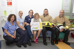 Byrnes visit to Tunbridge Wells Hospital (Kent Fire and Rescue Service) Tags: tunbridge wells woody elsa byrnes hospital partnership adam piper iain bradshaw community safety public
