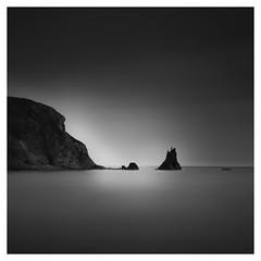 Three rocks (Marco Maljaars) Tags: pelicancoveparc longexposure marcomaljaars monochrome mood seascape waterscape california leefilter water beach blackandwhite bw birds bird sea sky sand ocean sunset