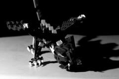 Drago (grundi1) Tags: sony alpha 68 ilca a68 sigma1770f2845dcmacro metz mecablitz 64af1 digital flash blitzlicht entfesselt blitz strobist black white schwarzweis schwarz weis lego drachen dragon experiment