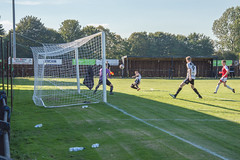 East Yorkshire Carnegie (nonleaguepap) Tags: east yorkshire carnegie humberside hull dunswell green grass pitch blue sky white clouds football footballers players action photos shots northern counties league non harworth colliery dene park nottinghamshire saturday september 2018 red black shirts socks shorts boots goal goalkeeper stadium ground