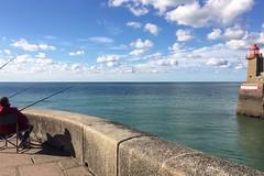 Fishing (roseline2fr) Tags: fishing lighthouse phare port normandie