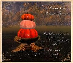 Harvest Topiary (larindaravenheart) Tags: halloween second life sl secondlife fall pumpkin topiary